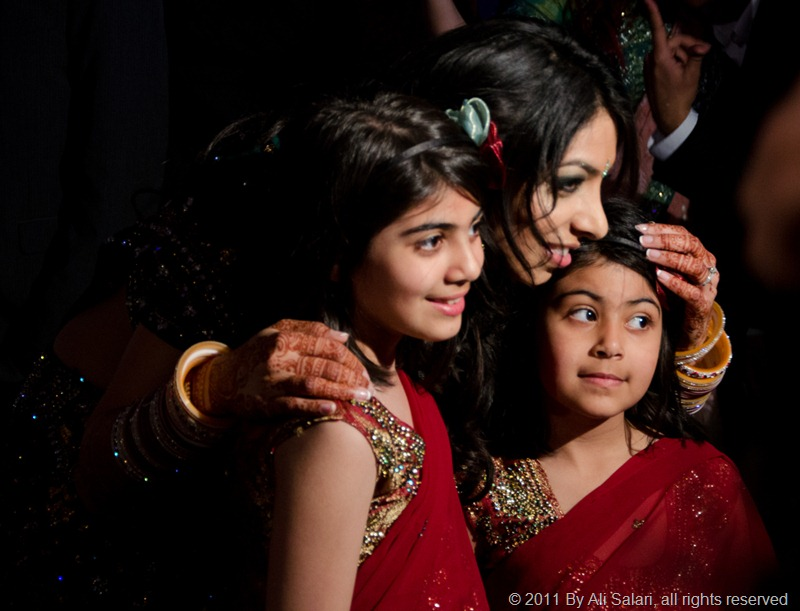 Picture of a Sikh Bride and her two cousins