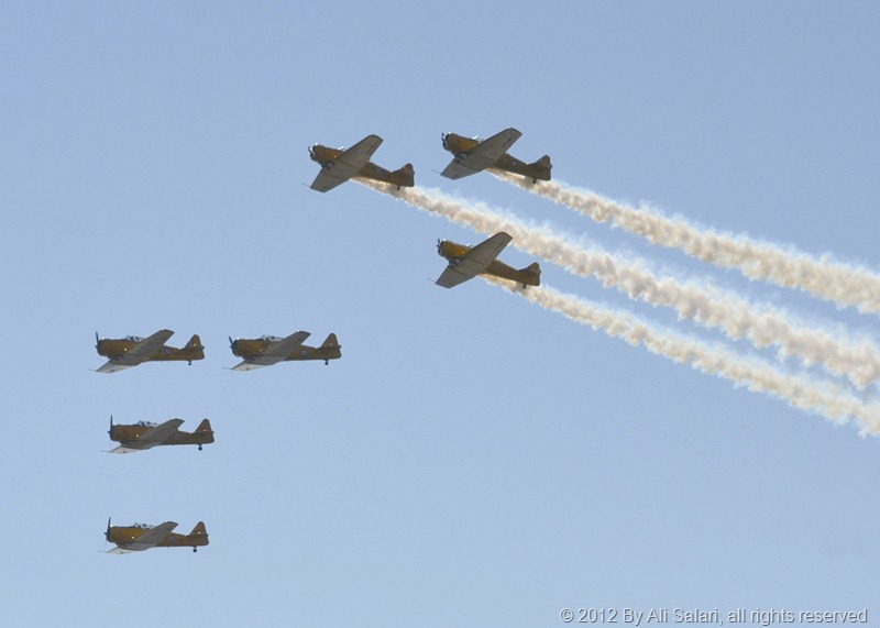 Harvard Flying formation, part of group banking high